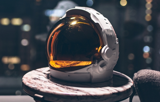 Juxtapoz Magazine – Going to Space in Bronze : Michael Kagan x AllRightsReserved « A7L HELMET »